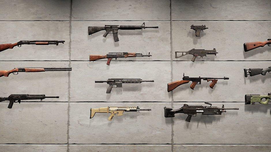 PUBG Waffenarsenal