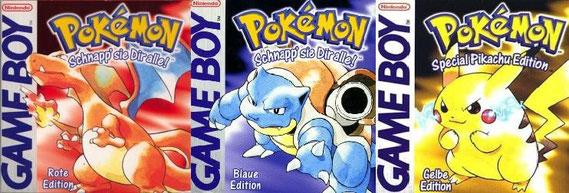Pokémon Rot, Blau und Gelb