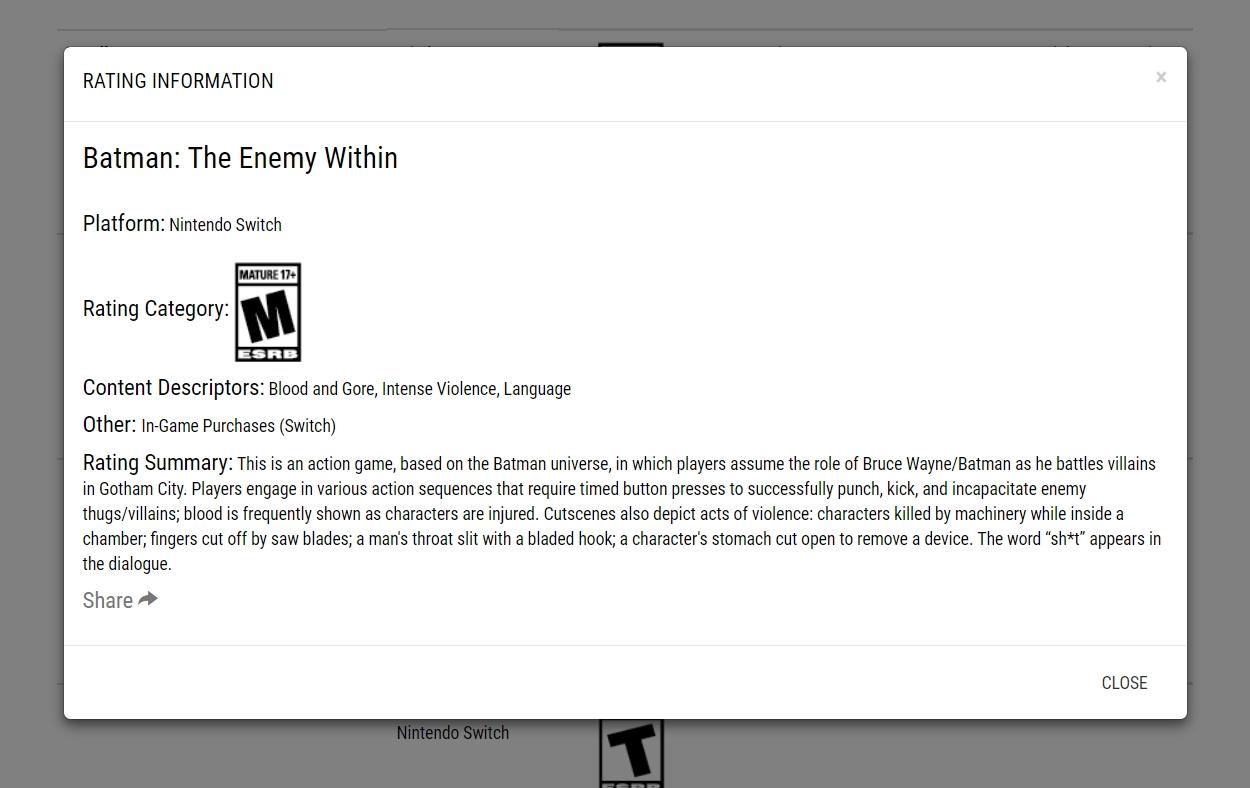 Batman: The Enemy Within Nintendo Switch
