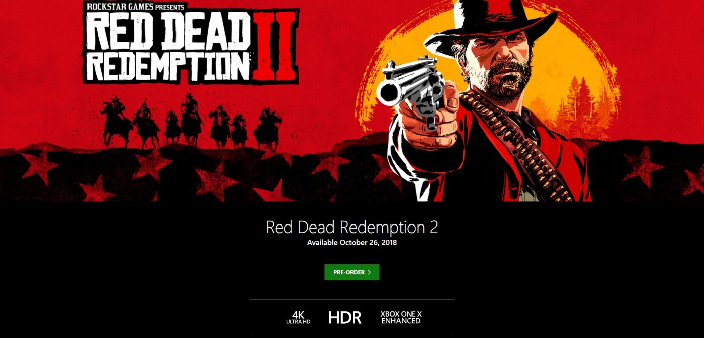 Red Dead Redemption 2 Xbox One X