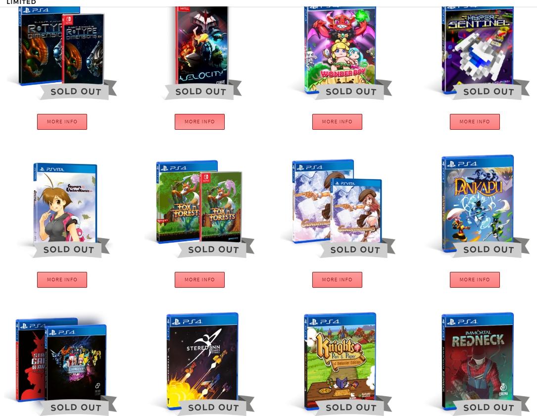 Die Spiele von Strictly Limited Games