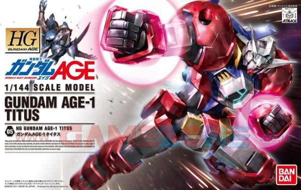Gundam AGE-1 Titus (HG) -terakit - Bandai-0
