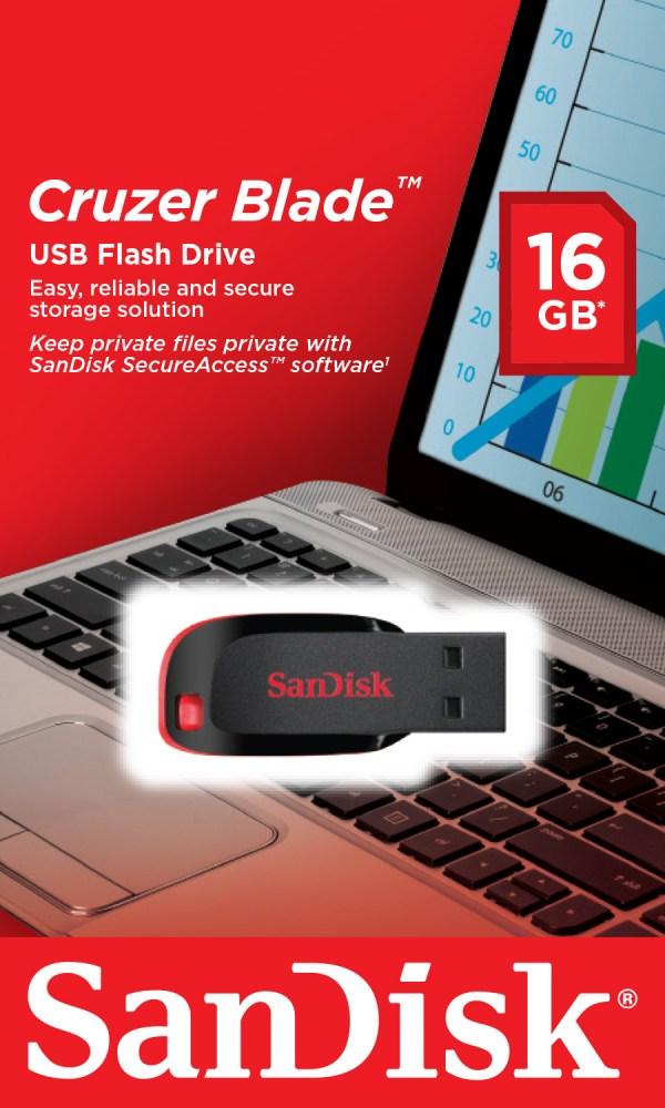 Flash Disk Sandisk 16GB Cruzer Blade-0