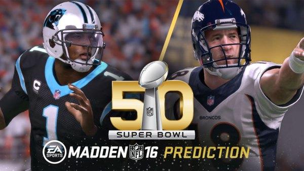 Madden NFL 16 Super Bowl 50