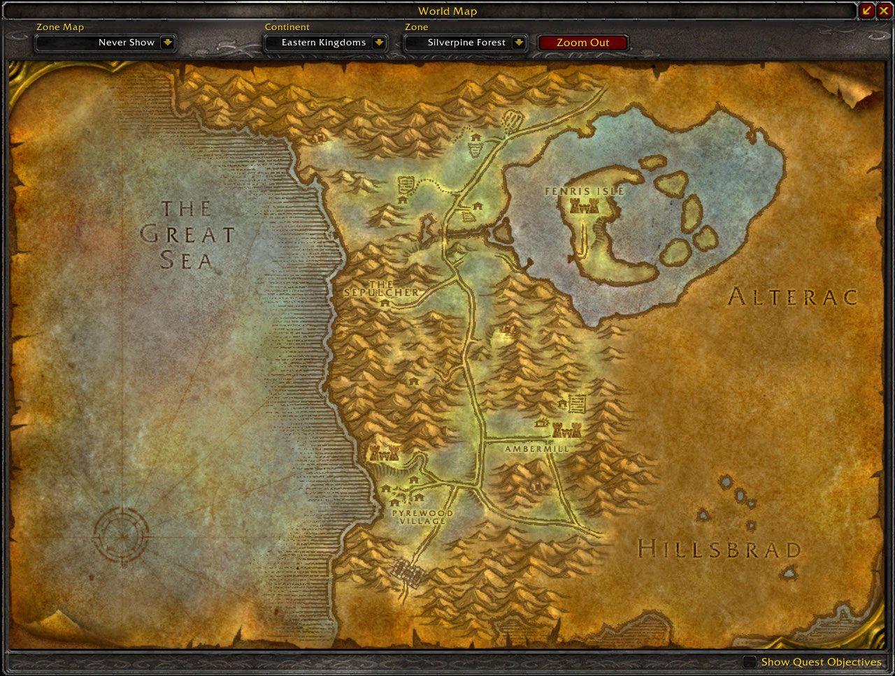 Silverpine Forest Map Wow Screenshot