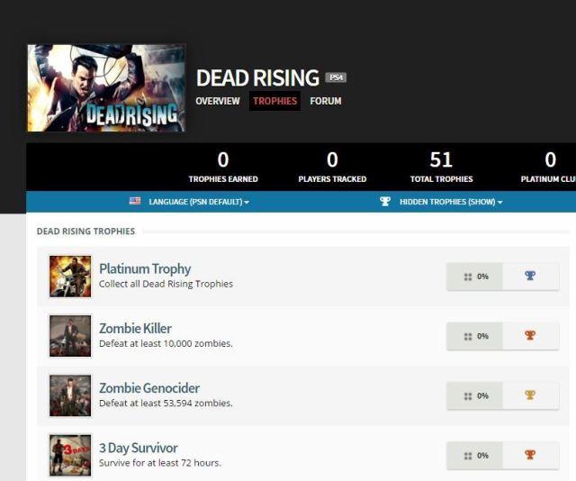 DeadRisingPS4Trophies
