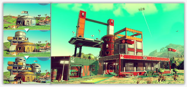 An image showing an example of a base in No Man's Sky.