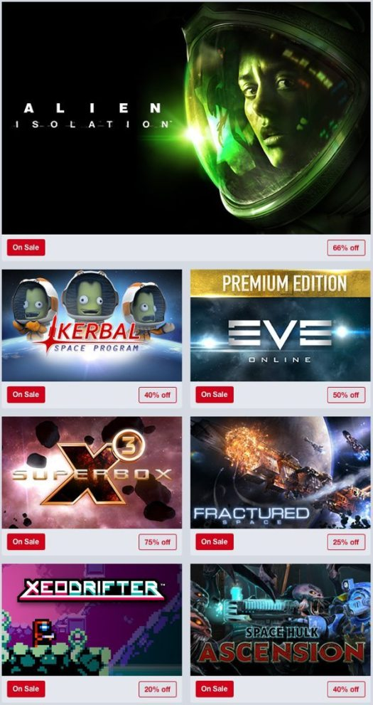Humble Store Space Weekend Sale