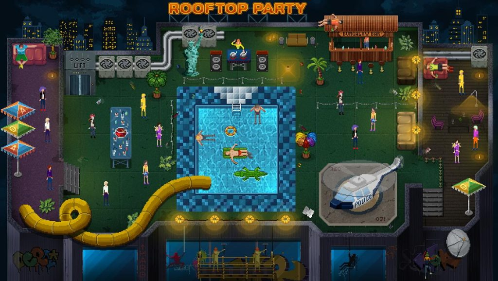 Party Hard Rooftop Party Level Detailed - Gaming Cypher