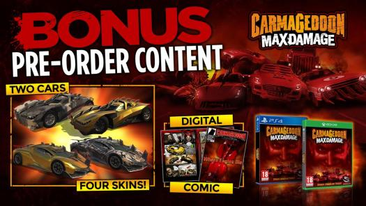 Carmageddon: Max Damage Exclusive Content Available with Pre-Sale Orders Starting Today