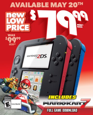 Nintendo 2DS Now Available for $79.99
