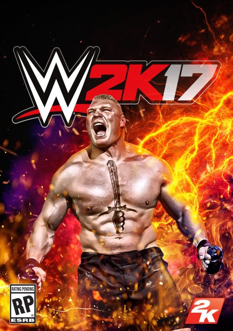 2K Announces Brock Lesnar as WWE 2K17 Cover Superstar