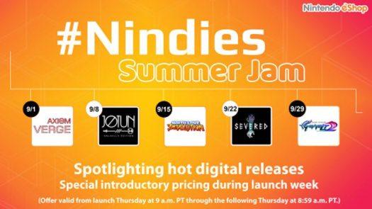 Nintendo eShop Spotlights #Nindies Summer Jam for Month of September