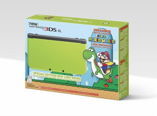 Lime-Green New Nintendo 3DS XL System with Super Mario World Pre-Installed Announced by Amazon