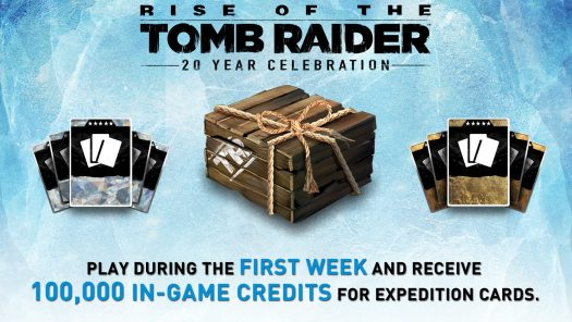 Rise of the Tomb Raider: 20 Year Celebration Thanks Fans During Launch Week with 100,000 in-Game Credits
