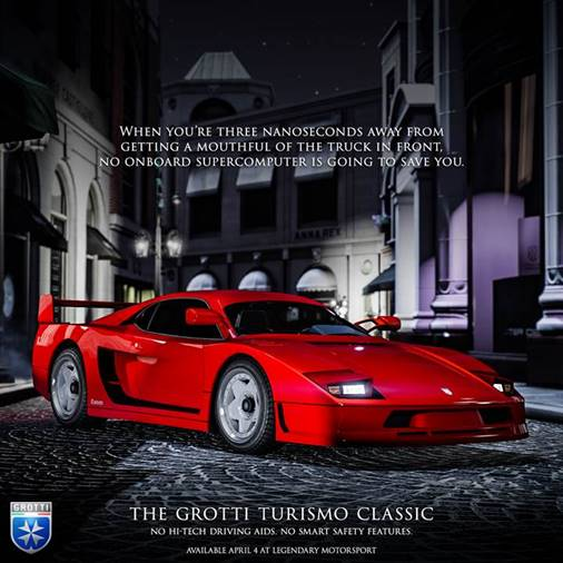 GTA Online Grotti Turismo Classic Available Now, New Premium Special Vehicle Race and More