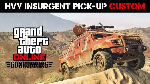 "<p style=""text-align: center;""></p> <strong><a href=""http://www.rockstargames.com/"" target=""_blank"" rel=""noopener noreferrer"">Rockstar Games</a></strong> is happy to announce another big week for Gunrunning and beyond in <em><strong>GTA Online</strong></em>, with many new additions including the <i>Insurgent Pick-Up Custom</i>; an armored, weaponized war machine variant of the HVY Insurgent Pick-Up, now available via upgrade in the Mobile Operation Center's Weapon & Vehicle Workshop, and exciting new bonuses including double GTA$ & RP rewards with the launch of any Mobile Operation Mission, and double GTA$ & RP payouts in both the latest Adversary Mode, <i>Power Mad</i> and fan-favorite mode, <i>Deadline.</i>           Related: <a href=""https://www.gamingcypher.com/gta-online-power-mad-adversary-mode-pegassi-torero-gunrunning-bonuses-weapons-discounts/"" target=""_blank"" rel=""noopener""><strong>GTA Online: Power Mad Adversary Mode, The Pegassi Torero, Gunrunning Bonuses, Weapons Discounts & More</strong></a>"