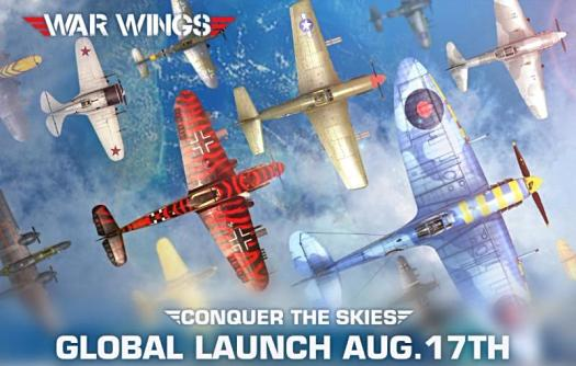 War Wings Now Available for Mobile in the U.S and Worldwide