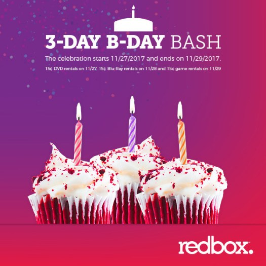 Redbox Celebrates 15 Years of Affordable Entertainment with 15 Cent Movie and Game Rental Nights