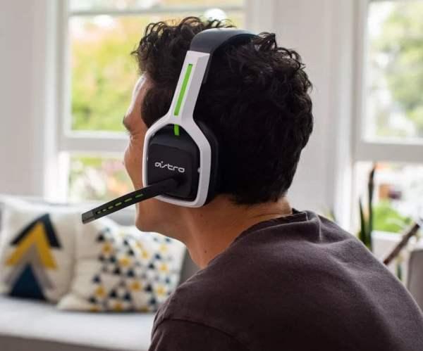 man wearing ASTRO Gaming A20 Gen 2 Wireless Headset