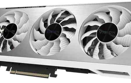 Three Fans RTX Graphics Card White Colored