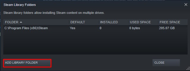 creating steam library folder