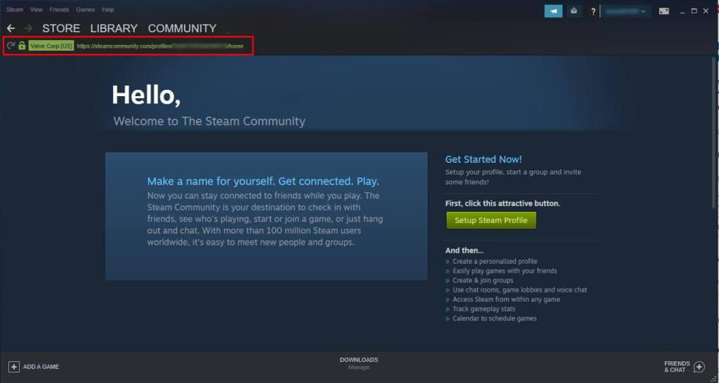 finding steam user ID b