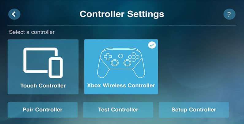 steam link controller settings