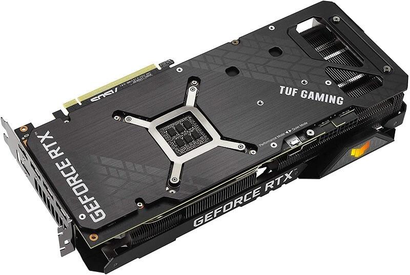 ASUS TUF Gaming NVIDIA GeForce RTX 3080 OC back plate