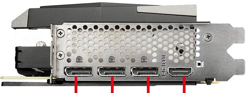 MSI Gaming X Trio GeForce RTX 3080 ports