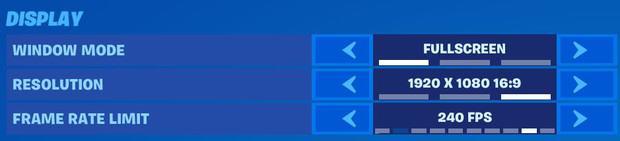 fortnite best settings