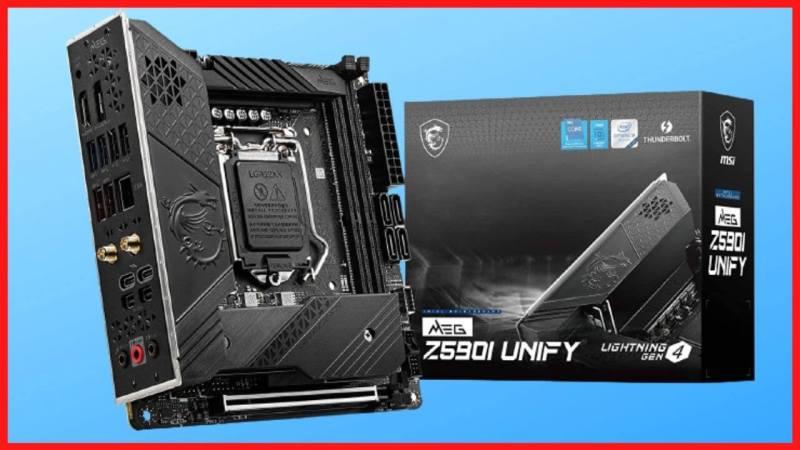 MSI MEG Z590I Unify Motherboard - box image