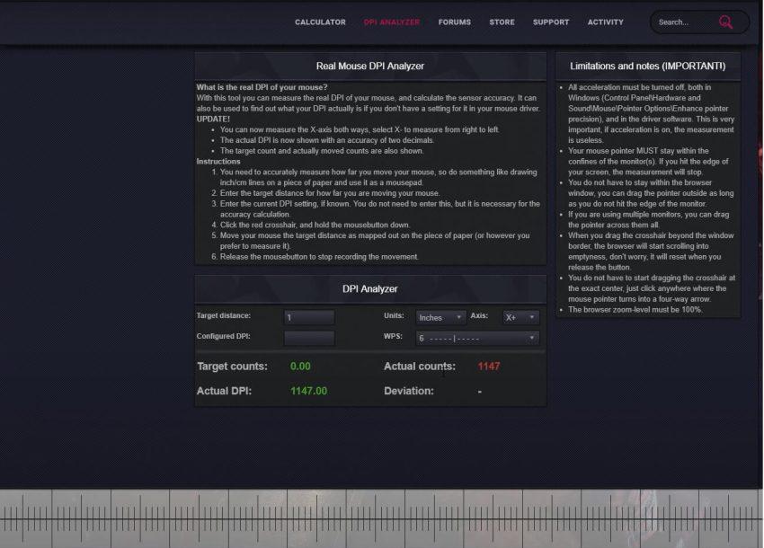 mouse dpi analyzer