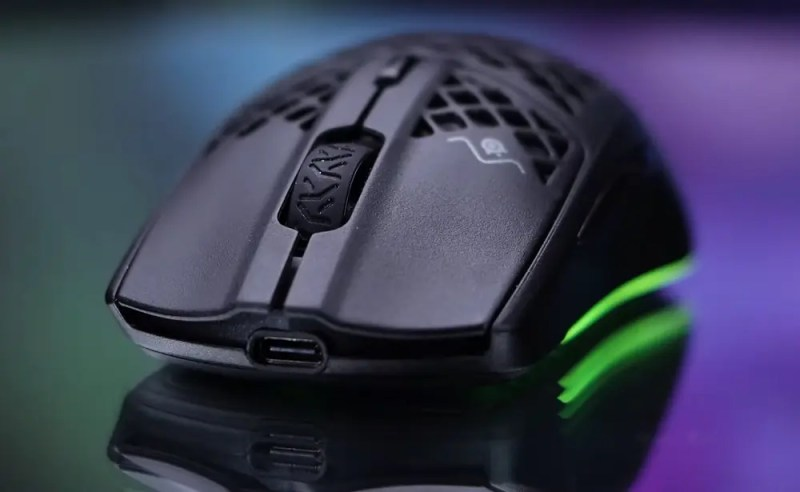 front view of Steelseries Aerox 3 Wireless gaming mouse