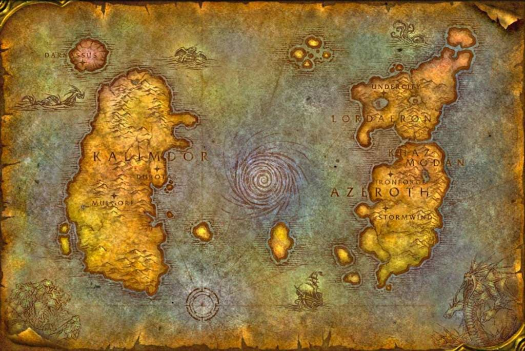 wow classic map