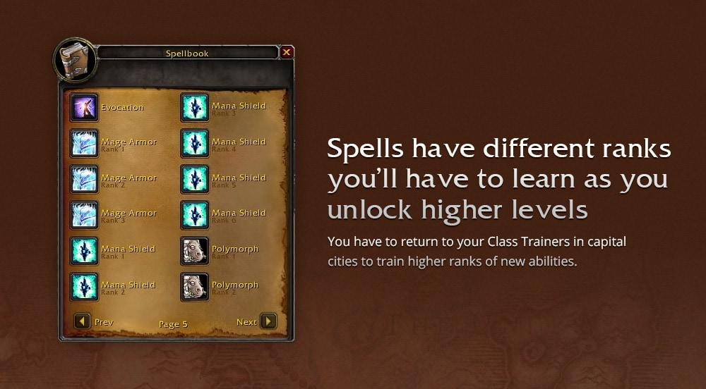 wow classic spells