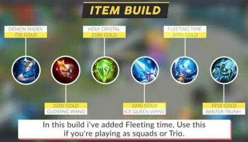 Mobile legends Luo Yi Item Build 2