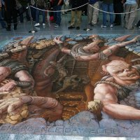 Amazing Gears of War Chalk Painting by Kurt Wenner at E3