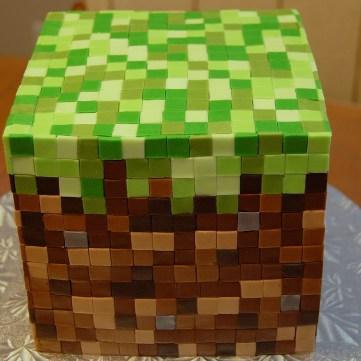 Minecraft Cube cake by M0ffleb0x - http://www.flickr.com/photos/m0ffleb0x/