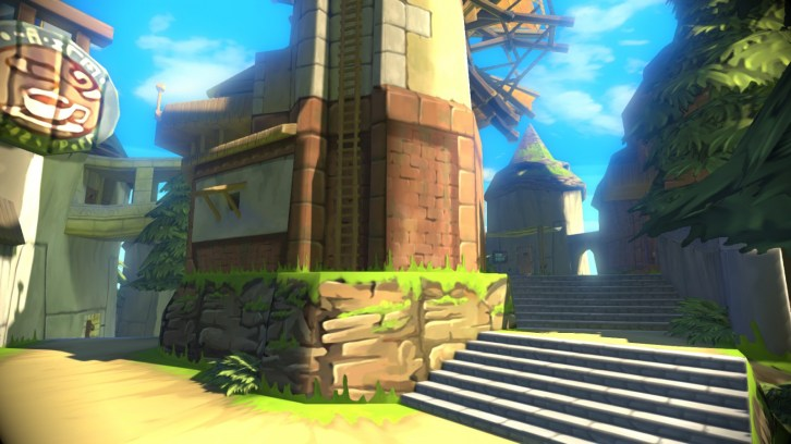 winfall island architecture from Wind Waker HD