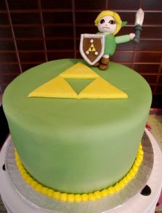 simple zelda triforce cake