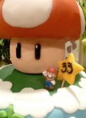Mario, Mushroom, star cake
