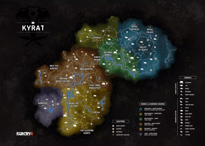 Far Cry 4 Mappa