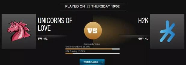 League of Legends Uol vs H2K