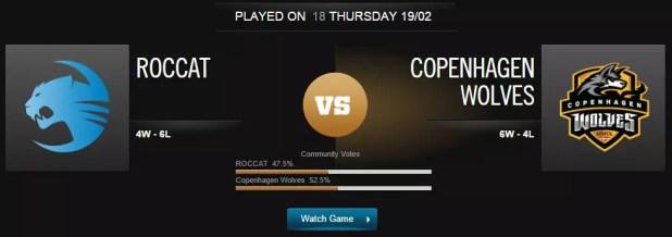 League of Legends Roccat vs Copenhagen