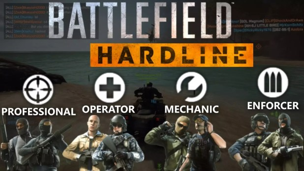 battlefield Hardline Classes