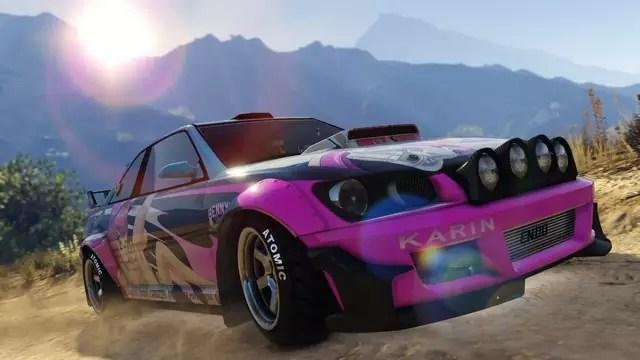 GTA Online aterra e sotterra Karin Sultan RS