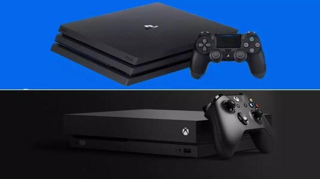 Xbox One X PlayStation 4 Pro