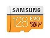 Samsung MB-MP128GA/EU EVO Scheda MicroSD da 128 GB, UHS-I, Classe U3, fino a 100 MB/s, Adattatore SD Incluso