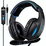 2018 Sades SA816 3.5mm Multi-Platform Cuffie Gaming, Cuffie da Gioco Con Microfono Controllo del Volume Noise Cancelling Per New Xbox uno/PS4/PC/Laptop/Mac/iPad/iPod(Nero/Blu)